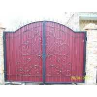 ворота кованые В016