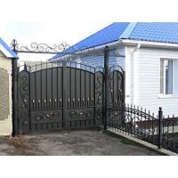 ворота кованые В018