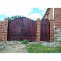 ворота кованые В021