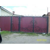 ворота кованые В022