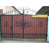 ворота кованые В023