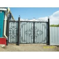 ворота кованые В025