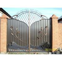 ворота кованые В031