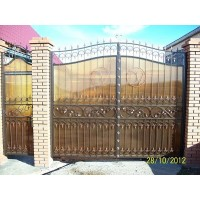 ворота кованые В033