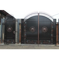 ворота кованые В036