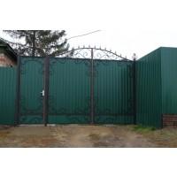 ворота кованые В037