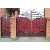 ворота кованые В039