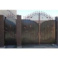 ворота кованые В049