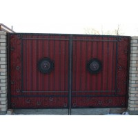 ворота кованые В050