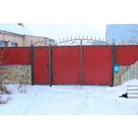 ворота кованые В052