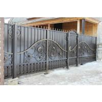 ворота кованые В054