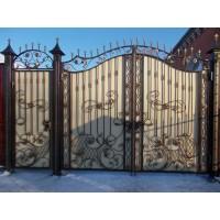 ворота кованые В055