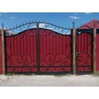 ворота кованые В059
