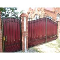 ворота кованые В066