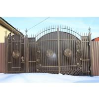 ворота кованые В073