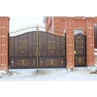 ворота кованые В076