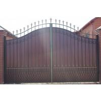 ворота кованые В078