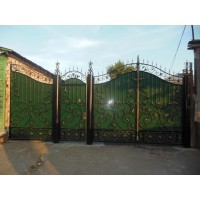 ворота кованые В081