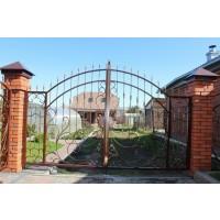 ворота кованые В082