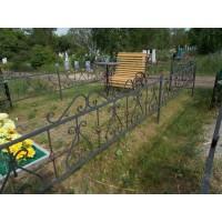 кованые оградки КО008