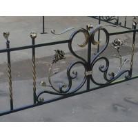 кованые оградки КО054