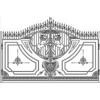ворота кованые ВК037